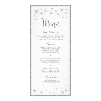 Menu de mariage d'hiver/menu mariage de flocon de