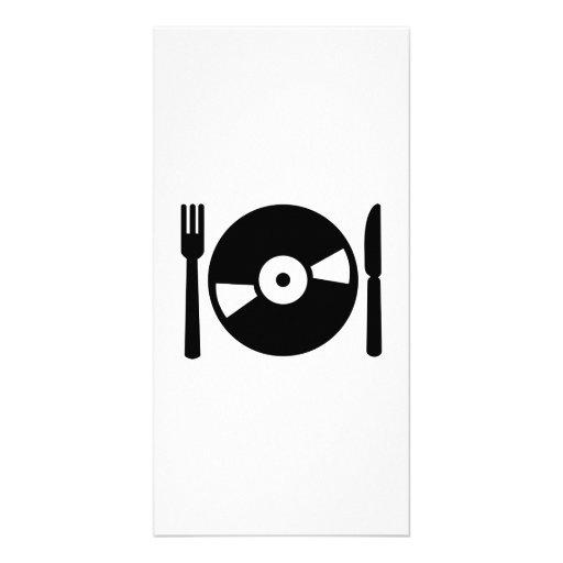 Menu du DJ de vinyle Cartes Avec Photo