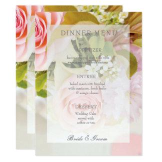 Menu editable de mariage de ressort de bouquet carton d'invitation  16,51 cm x 22,22 cm