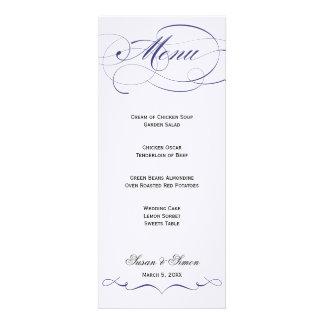 Menu élégant de mariage de manuscrit - marine invitations