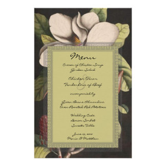 Menu enchanté rustique de magnolia de forêt de