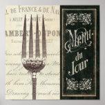 Menu et fourchette français