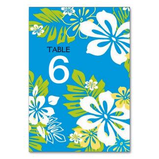 Menu floral tropical de mariage+Carte de nombre de