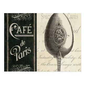 Menu français carte postale