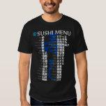 Menu-Jpanese de sushi T-shirts