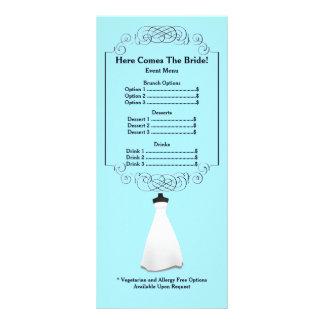 Menu nuptiale Rackcard de douche Double Carte Personnalisée