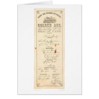 """Menu pour le vapeur """"âge d'or"""" (1276A) Carte De Vœux"""