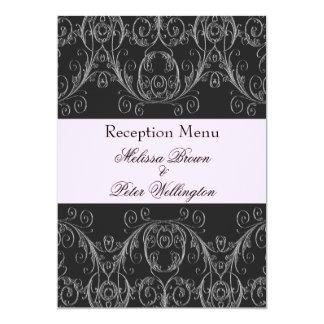Menu rose parfaitement vintage 5x7 de mariage carton d'invitation  12,7 cm x 17,78 cm