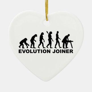 Menuisier d'évolution ornement cœur en céramique