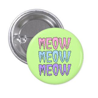 Meow en pastel de Meow de Meow de Goth Badge Rond 2,50 Cm
