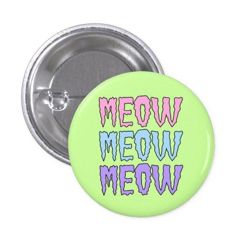Meow en pastel de Meow de Meow de Goth Badge