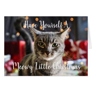 Meowy peu de carte de voeux de Noël