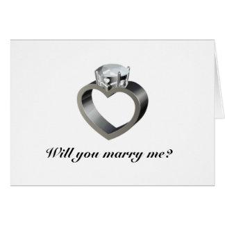 M'épouserez-vous ? carte de vœux