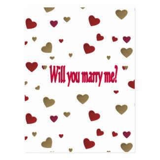 M'épouserez-vous ? carte postale