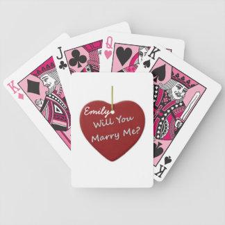 M'épouserez-vous ? Cartes de jeu Jeu De Poker
