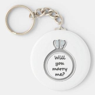 M'épouserez-vous ? porte - clé porte-clé rond