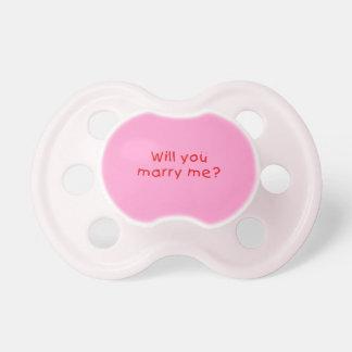 M'épouserez-vous ? Sweat - shirts à capuche de Sucette Pour Bébé