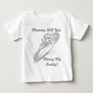 M'épouserez-vous ? t-shirt pour bébé