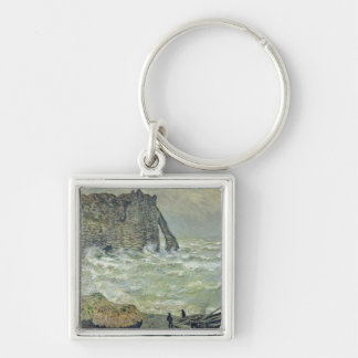 Mer agitée de Claude Monet | chez Etretat, 1883 Porte-clés