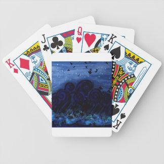 Mer bleue de la mélancolie jeux de cartes