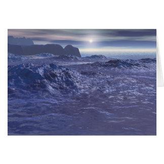 Mer congelée de Neptune Carte De Vœux