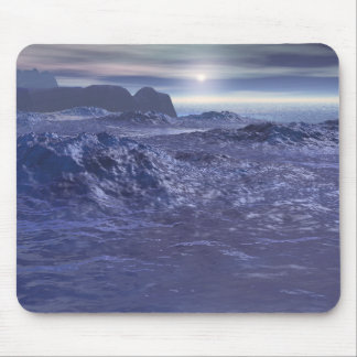 Mer congelée de Neptune Tapis De Souris