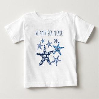 Mer côtière de vitamine de l'art | svp t-shirt pour bébé