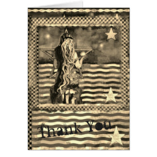 Mer de sirène et carte de remerciements de tons de