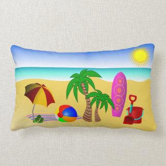 Mer de Sun de plage et carreau de Lumbar de MoJo Coussin Rectangle