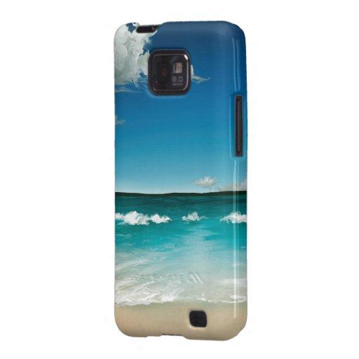 Mer d'été - caisse protectrice de la galaxie S II  Coque Pour Galaxy SII De Samsung