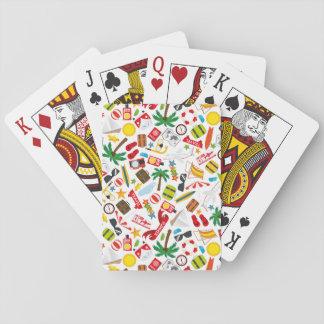 Mer du sud de voyage de vacances d'été de motif jeu de cartes