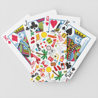 Mer du sud de voyage de vacances d'été de motif jeux de cartes
