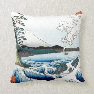 Mer et mont Fuji de Hiroshige Coussin