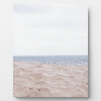 Mer et sable photo sur plaque
