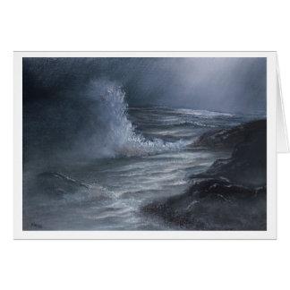 Mer orageuse - carte de voeux
