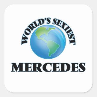 Mercedes le plus sexy du monde sticker carré