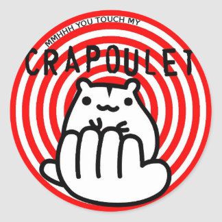 Merch Crapoulet Records Sticker Rond