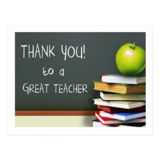 Merci à de grandes cartes postales d'un professeur