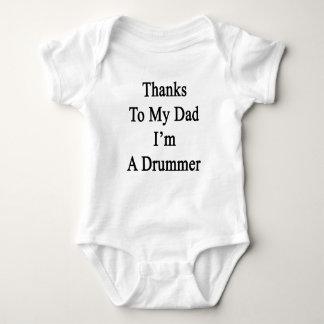 Merci à mon papa je suis un batteur body