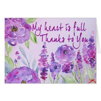 Merci à vous carte de vœux