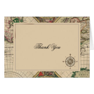 Merci antique de mariage de carte de Vieux Monde