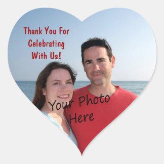 Merci ! Autocollants de coeur de photo
