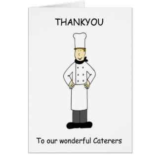 Merci aux traiteurs merveilleux cartes