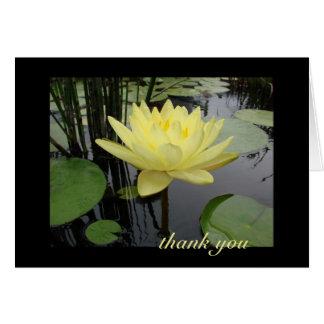 Merci - beau nénuphar carte de vœux