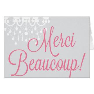 Merci Beaucoup ! Salutation/carte de remerciements Cartes