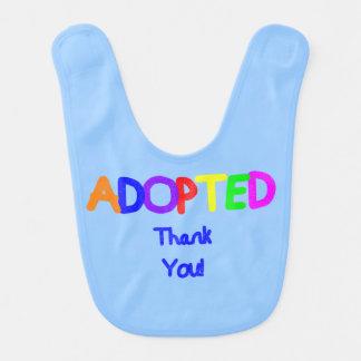 Merci bleu adopté bavoirs de bébé