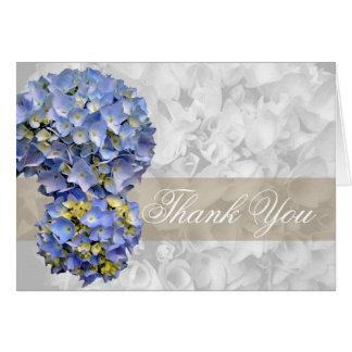 Merci, bleu carte pliée alpha par hortensia