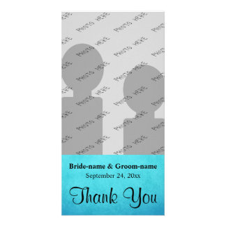 Merci bleu et noir de mariage photocartes