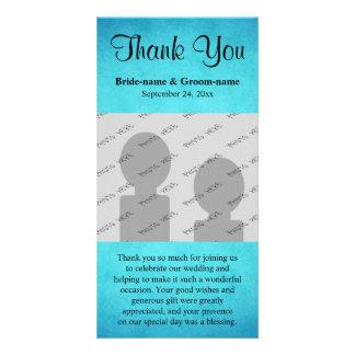 Merci bleu et noir de mariage photocarte personnalisée