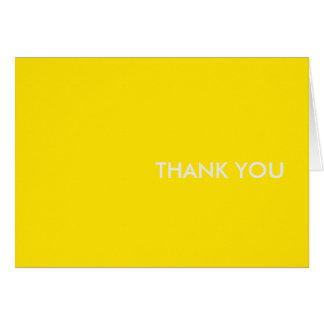 """merci carder """"la voiture de sport jaune """" cartes de vœux"""